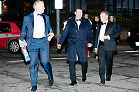 People walk to inaugural balls in gowns and tuxedos  after the inauguration of President Donald Trump on Jan. 20, 2017, in Washington, D.C.