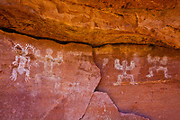 Pictographs, Souhtern Utah Ancient Native American rock art paintings