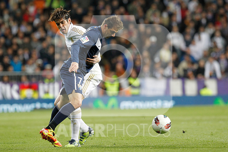 Real Madrid's Ricardo Kaka and Malaga's Joaquin during la Liga match on march 18th 2012...Photo: Alex Cid-Fuentes / ALFAQUI