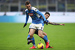 Fabian Ruiz of Napoli is challenged by Stefano Sensi of Inter during the Coppa Italia match at Giuseppe Meazza, Milan. Picture date: 12th February 2020. Picture credit should read: Jonathan Moscrop/Sportimage