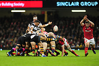 Barbarians Bryn Hall in action during the International friendly match between Wales and Barbarians at the Principality Stadium in Cardiff, Wales, UK. Saturday 30 November 2019.