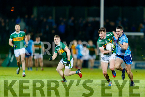 Sean O'Shea Kerry in action against  Niall Scully Dublin during the Allianz Football League Division 1 Round 3 match between Kerry and Dublin at Austin Stack Park in Tralee, Kerry on Saturday night.