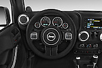 Car pictures of steering wheel view of a 2014 Jeep Wrangler Rubicon 5 Door SUV