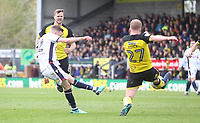 Bolton Wanderers Craig Noone gers a shot on goal<br /> <br /> Photographer Mick Walker/CameraSport<br /> <br /> The EFL Sky Bet Championship - Burton Albion v Bolton Wanderers - Saturday 28th April 2018 - Pirelli Stadium - Burton upon Trent<br /> <br /> World Copyright &copy; 2018 CameraSport. All rights reserved. 43 Linden Ave. Countesthorpe. Leicester. England. LE8 5PG - Tel: +44 (0) 116 277 4147 - admin@camerasport.com - www.camerasport.com