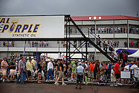 Apr. 27, 2013; Baytown, TX, USA: NHRA fans during a rain delay to qualifying for the Spring Nationals at Royal Purple Raceway. Mandatory Credit: Mark J. Rebilas-