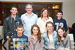 18TH WISHES: Grainne Griffin,The Kerries,Tralee (seated 2nd from the left) celebrated her 18th birthday last Friday night in La Scala, Tralee with friends and family. Seated l-r: Aaron Eager, Grainne Griffin, Beatrice Dennison and Siobhan Griffin. Back l-r: Padraig, Mike, Joan and Sean Griffin.