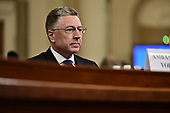 Ambassador Kurt Volker, former Special United States Envoy to Ukraine, listens to the opening remarks as he waits to testify during the US House Permanent Select Committee on Intelligence public hearing as they investigate the impeachment of US President Donald J. Trump on Capitol Hill in Washington, DC on Tuesday, November 19, 2019.<br /> Credit: Ron Sachs / CNP<br /> (RESTRICTION: NO New York or New Jersey Newspapers or newspapers within a 75 mile radius of New York City)
