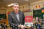 "Coolard School History; Maurice O'Mahony, principal of Coolard School pictured with his book ""A History of Coolard School 1846-2016."