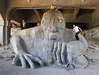 The troll under a bridge in Seattle, WA