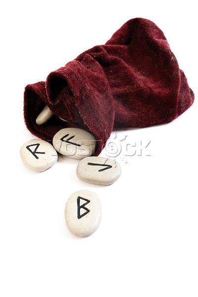 Rune stones, runes with velvet bag - symbol for fortune telling