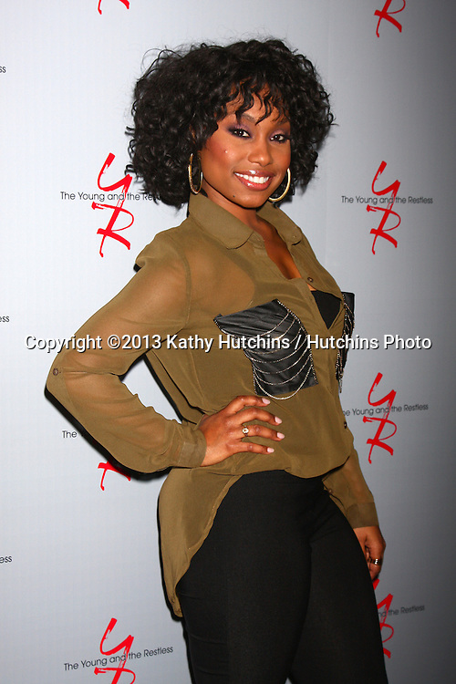 LOS ANGELES - FEB 27:  Angell Conwell at the Hot New Faces of the Young and the Restless press event at the CBS Television City on February 27, 2013 in Los Angeles, CA