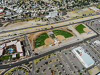 Paisaje urbano, paisaje de la ciudad de Hermosillo, Sonora, Mexico. Synthetic grass fields, softball, big league dreams.<br /> campos de pasto sintetico, softboll,  big league dreams.<br /> Urban landscape, landscape of the city of Hermosillo, Sonora, Mexico.<br /> (Photo: Luis Gutierrez /NortePhoto)