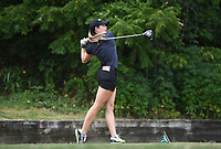 Brooke Matthews tees off, Saturday, June 27, 2020 during the final round of the WAPT pro golf tournament in Bella Vista. Check out nwaonline.com/200627Daily/ for today's photo gallery. <br /> (NWA Democrat-Gazette/Charlie Kaijo)
