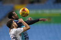Myles Weston of Wycombe Wanderers under pressure from Dion Kelly-Evans of Coventry City during the The Checkatrade Trophy - EFL Trophy Semi Final match between Coventry City and Wycombe Wanderers at the Ricoh Arena, Coventry, England on 7 February 2017. Photo by Andy Rowland.