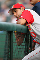July 31st, 2007:  Joaquin Rodriguez of the Brooklyn Cyclones, Short-Season Class-A affiliate of the New York Mets a Edward LeLacheur Park in Lowell, MA.  Photo by:  Mike Janes/Four Seam Images