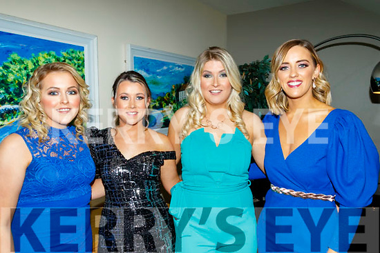 Causeway hurling club victory social last Saturday night in the Ballyroe Heights hotel, Tralee, was attended by L-R Courtney Dwyer, Nicole Whyte, Kathy Prendergast and Sarah Nelan.