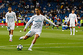 1st October 2017, Santiago Bernabeu, Madrid, Spain; La Liga football, Real Madrid versus Espanyol; Cristiano Ronaldo dos Santos (7) Real Madrid Pre-match warm-up