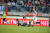 VOETBAL: HEERENVEEN: Abe Lenstra Stadion, 02-08-2012, Europa League, SC Heerenveen - Rapid Boekarest, Eindstand 4-0, keeper Calin Albut (#22 | RB)Samir Fazli  (#19) scoorde de 4-0, ©foto Martin de Jong