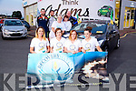 32 Counties In 24 Hours Car Dive for four Kerry Girls in aid of Recovery Haven launched on Monday, Pictured front l-r Linda Murphy, Ardfert, Nicola Baker, Abbeydorney, Joanne Coffey, Ardfert, Karen McKenna, Lixnaw, here with support from GAA stars Darren Dineen, Killian Young, Eileen Comerford, Helen Geary, Recovery Haven, and  Noel O'Connor, Adams Sales Manager