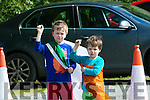 Liam and Finan Mansell supporting Kerry's Camogie  Team at the Kerry v Westmeath match at Abbeydorney GAA field on Sunday