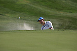 Padraig Harrington plays from a greenside bunker on the 17th hole in the opening foursomes at the 37th Ryder Cup at Valhalla Golf Club, Louisville, Kentucky, USA - 19th September 2008 (Photo by Manus O'Reilly/GOLFFILE)