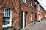 Victorian terraced housing of Kingston Terrace, Woodbridge, Suffolk, England