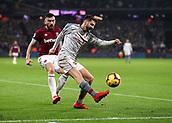 4th February 2019, London Stadium, London, England; EPL Premier League football, West Ham United versus Liverpool; Adam Lallana of Liverpool crossing the ball into the box