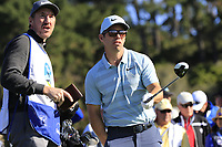 Paul Casey (ENG) and caddy John Mclaren on the 6th tee during Sunday's Final Round of the 2018 AT&amp;T Pebble Beach Pro-Am, held on Pebble Beach Golf Course, Monterey,  California, USA. 11th February 2018.<br /> Picture: Eoin Clarke | Golffile<br /> <br /> <br /> All photos usage must carry mandatory copyright credit (&copy; Golffile | Eoin Clarke)