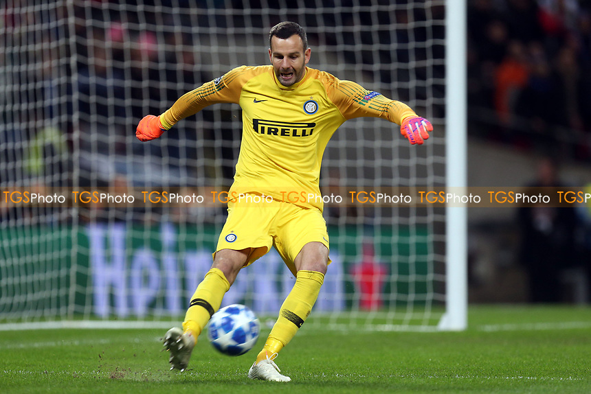 Samir Handanovic of Internazionale during Tottenham Hotspur vs Inter Milan, UEFA Champions League Football at Wembley Stadium on 28th November 2018