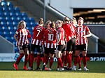 Group huddle during the The FA Women's Championship match at the Proact Stadium, Chesterfield. Picture date: 12th January 2020. Picture credit should read: Simon Bellis/Sportimage