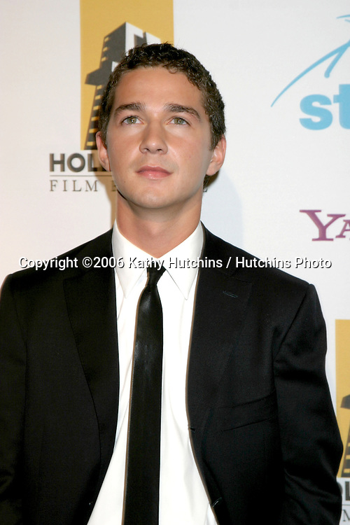 Shia LaBeauf.Hollywood Film Festival Awards.Beverly Hilton Hotel.Beverly Hills , CA.October 23, 2006.©2006 Kathy Hutchins / Hutchins Photo....