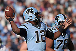 15 November 2014: UNC's Marquise Williams. The University of North Carolina Tar Heels hosted the University of Pittsburgh Panthers at Kenan Memorial Stadium in Chapel Hill, North Carolina in a 2014 NCAA Division I College Football game. UNC won the game 40-35.