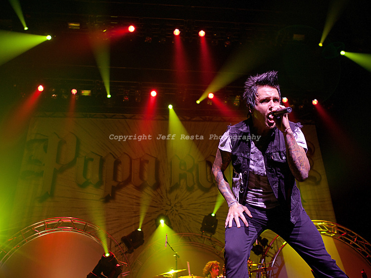 Avalanche Tour with Papa Roach, Puddle of Mudd and Buckcherry live concert at the Verizon Theatre on August 24, 2011 in Grand Prairie, TX.