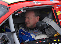 Feb 10, 2007; Daytona, FL, USA; Nascar Nextel Cup driver Ken Schrader (21) during practice for the Daytona 500 at Daytona International Speedway. Mandatory Credit: Mark J. Rebilas.