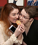 Kate Marilley and Caitlin Kinnunen during the Beth Leavel Portrait unveiling at Sardi's on 3/26/2019 in New York City.