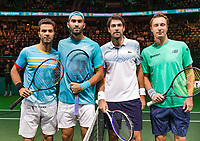 Rotterdam, The Netherlands, 17 Februari 2019, ABNAMRO World Tennis Tournament, Ahoy, Jeremy Chardy (FRA) / Henri Kontinen (FIN) vs Jean-Julien Rojer (NED) / Horia Tecau (ROU), <br /> Photo: www.tennisimages.com/Henk Koster
