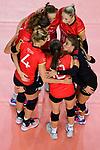 25.08.2018, …VB Arena, Bremen<br />Volleyball, LŠnderspiel / Laenderspiel, Deutschland vs. Niederlande<br /><br />Jubel Maren Fromm (#4 GER), Melanie Schšlzel / Schoelzel (#14 GER), Denise Hanke (#3 GER), Louisa Lippmann (#11 GER), Lenka DŸrr / Duerr (#1 GER), Lena Stigrot (#10 GER)<br /><br />  Foto &copy; nordphoto / Kurth