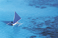Sailboats are available for rental to go sightseeing around  Boracay  Island, Philippines