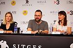51 Festival Internacional de Cinema Fantastic de Catalunya-Sitges 2018.<br /> Palmares-RdP.<br /> Carolina Bang, Fernando Navarro &amp; Anais Emery.