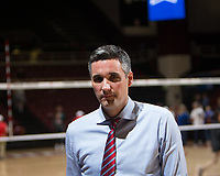 STANFORD, CA - December 1, 2017: Kevin Hambly at Maples Pavilion. The Stanford Cardinal defeated the CSU Bakersfield Roadrunners 3-0 in the first round of the NCAA tournament.