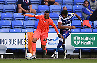 7th July 2020; Madejski Stadium, Reading, Berkshire, England; English Championship Football, Reading versus Huddersfield; Gabriel Osho of Reading competes for the ball with Karlan Grant of Huddersfield