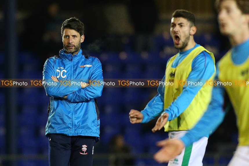 Lincoln City manager Danny Cowley looks on during Braintree Town vs Lincoln City, Vanarama National League Football at the IronmongeryDirect Stadium on 7th March 2017