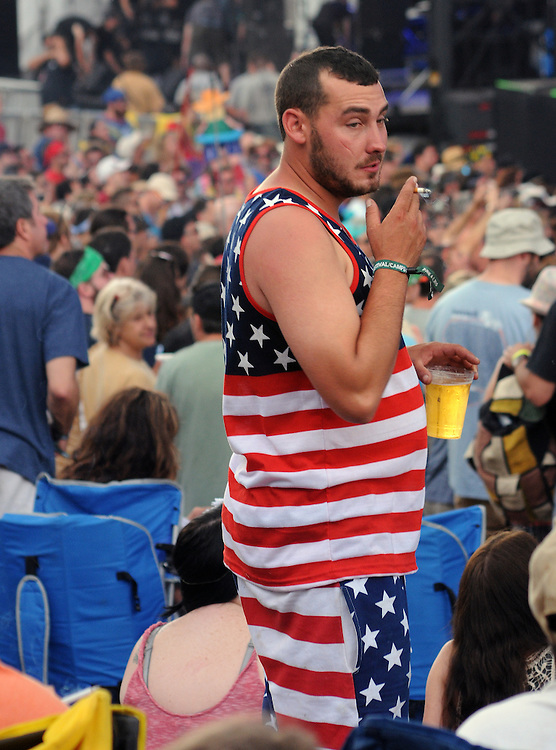 seen in the audience watching a performance of, John Russo's Almost Dead, at Mountain Jam Music Festival of 2015, in Hunter, NY on Friday June 5, 2015. Photo by Jim Peppler. Copyright Jim Peppler 2015.
