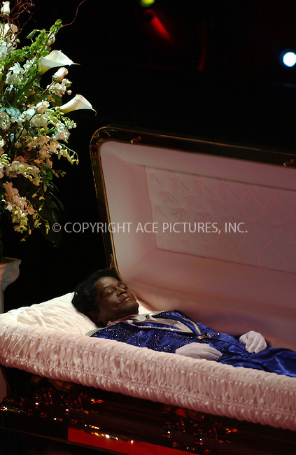 WWW.ACEPIXS.COM . . . . . ....December 28, 2006, New York City. ....The late James Brown lying in repose at the Apollo Theater in Harlem.  ....Please byline: KRISTIN CALLAHAN - ACEPIXS.COM.. . . . . . ..Ace Pictures, Inc:  ..(212) 243-8787 or (646) 769 0430..e-mail: info@acepixs.com..web: http://www.acepixs.com