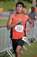 Nov 14, 2015; Claremont, CA, USA; Jovani Barajas of Occidental competes during the 2015 NCAA Division III West Regionals cross country championships at Pomona-Pitzer College. (Freelance photo by Kirby Lee)