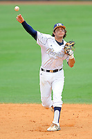 16 May 2010:  FIU's Garrett Wittels (10) throws to first as the FIU Golden Panthers defeated the University of South Alabama Jaguars, 5-0, at University Park Stadium in Miami, Florida.  With his single in the fourth inning, Wittels tied Roger Schmuck (Arizona State, 1971) for third on the NCAA all-time consecutive hitting streak list.