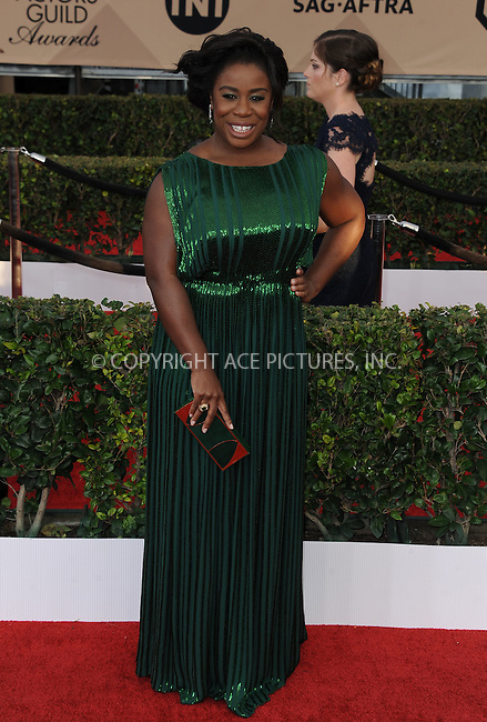 WWW.ACEPIXS.COM<br /> <br /> January 30 2016, LA<br /> <br /> Uzo Aduba arriving at the 22nd Annual Screen Actors Guild Awards at the Shrine Auditorium on January 30, 2016 in Los Angeles, California<br /> <br /> By Line: Peter West/ACE Pictures<br /> <br /> <br /> ACE Pictures, Inc.<br /> tel: 646 769 0430<br /> Email: info@acepixs.com<br /> www.acepixs.com