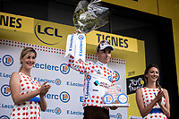 The Polka Dot Jersey is for Romain Bardet (FRA/AG2R La Mondiale) <br /> <br /> Stage 19: Saint-Jean-de-Maurienne to Tignes (126km)<br /> 106th Tour de France 2019 (2.UWT)<br /> <br /> ©kramon