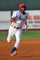 Johnson City Cardinals right fielder Anthony Garcia #44 runs to third during a game against the Greeneville Astros at Howard Johnson Field on July 13, 2011 in Johnson City, Tennessee.  Greeneville won the game 7-4.   (Tony Farlow/Four Seam Images)