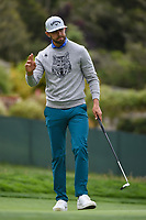 Erik van Rooyen (RSA) after sinking his putt on 14 during round 1 of the 2019 US Open, Pebble Beach Golf Links, Monterrey, California, USA. 6/13/2019.<br /> Picture: Golffile | Ken Murray<br /> <br /> All photo usage must carry mandatory copyright credit (© Golffile | Ken Murray)